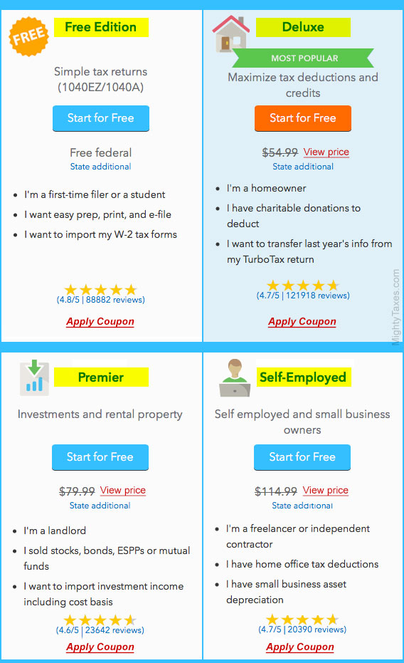 TurboTax Discount Coupon Code Promotions - Learn How You Can Get TurboTax Tax Software Discounts for the - Tax Season That Come In The Form Of TurboTax Coupon Codes or Promo Codes, And Bargain Deals You Can Access With Printable Coupons.