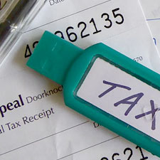 charity tax deduction receipts