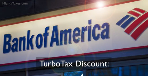 bank america turbotax discount