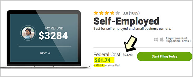 hr block self employed cost