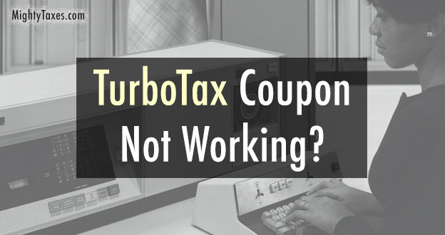 turbotax coupon not working