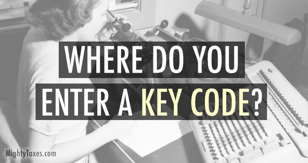enter hr block key code