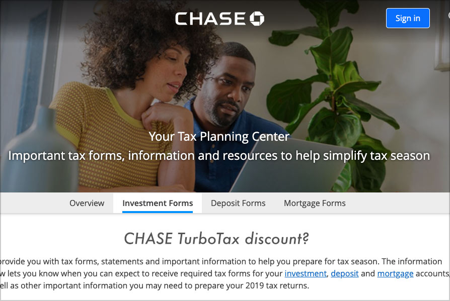 chase turbotax center