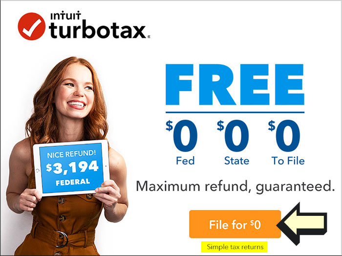 turbotax free state federal