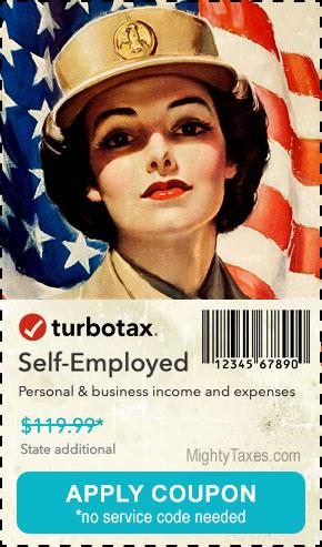 turbotax coupon self employed online