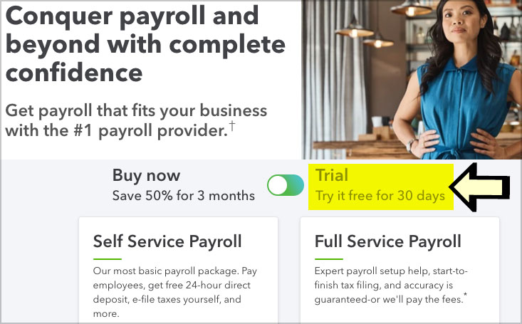 quickbooks payroll free trial