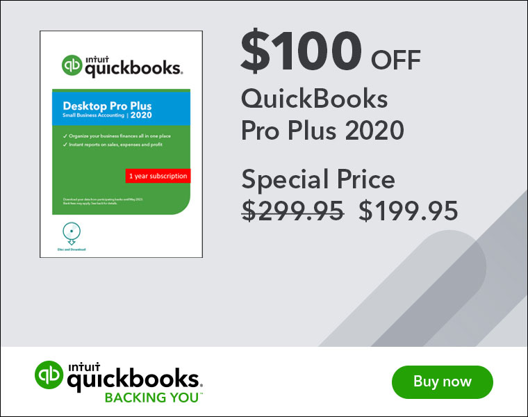 quickbooks pro plus coupon