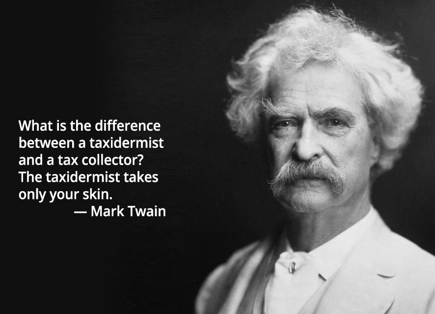 tax quote mark twain