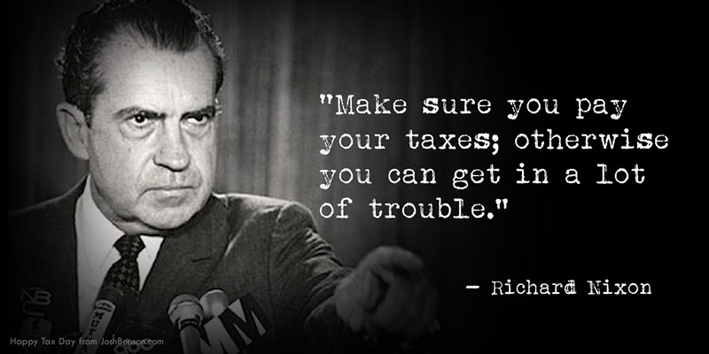 taxes quote richard nixon