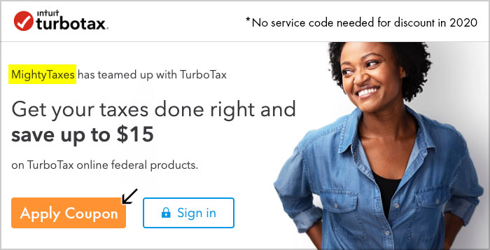 turbotax service code 2020 mighty taxes